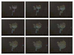 Stills van filmprojectie 'Wastafel'
